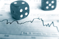 Stock gamble stock photos