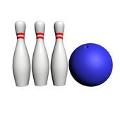 Stock for game of bowling Royalty Free Stock Photo