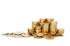 Stock  gold coins Royalty Free Stock Image