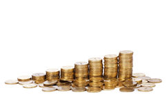 Stock gold coins Royalty Free Stock Photos