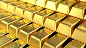 Stock of gold stock footage