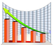 Stock graph. Profit and gain arrow  stock company goal Stock Photography