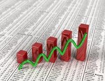 Stock Graph Royalty Free Stock Photos