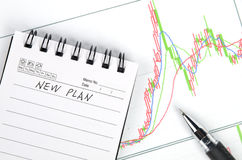 Stock graph Royalty Free Stock Images