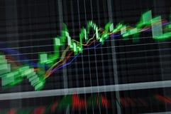 Stock graph. Stock market graph on big lcd display closeup macro Royalty Free Stock Image