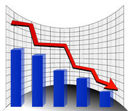 Stock graph. Stock loss arrow company goal Stock Images
