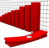 Stock Graph Deflated Royalty Free Stock Images