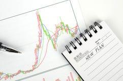 Stock grpah Stock Image