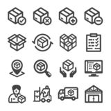 Stock icon set stock illustration