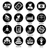 Stock Icons Black Stock Photo