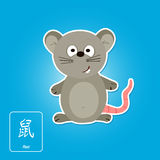 Stock  icons with rat and chinese zodiac sign Royalty Free Stock Photos