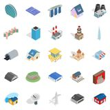 Stock icons set, isometric style. Stock icons set. Isometric set of 25 stock vector icons for web isolated on white background Stock Photos