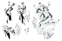 Stock illustration. Abstract jazz musicians Stock Photos