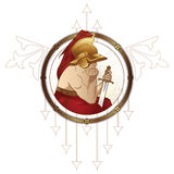 Stock illustration. Ancient warrior. Identity design for brand, heraldic, fashion and etc. Stock Image