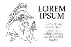 Stock illustration. Ancient warrior. Identity design for brand, heraldic, fashion and etc. Stock Photos