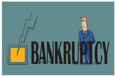Stock Illustration. Bob. Funny characters drawn in the style of flat lines. Bankruptcy and debt Royalty Free Stock Photography