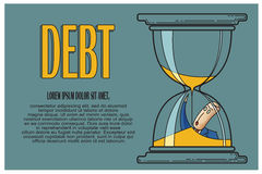 Stock Illustration. Bob. Funny characters drawn in the style of flat lines. Bankruptcy and debt Stock Images