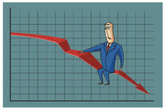 Stock Illustration. Bob. Funny characters drawn in the style of flat lines. Bankruptcy and debt Stock Photo