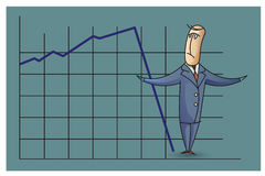 Stock Illustration. Bob. Funny characters drawn in the style of flat lines. Success Royalty Free Stock Photography