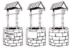 Stock illustration. cartoon wishing well Stock Images