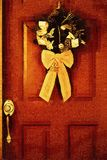 Stock illustration of Christmas Door. Digital illustration of Christmas door with painting effect . Great design for stationary template , greetings cards and royalty free illustration