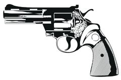 Colt of 38th caliber. Stock illustration. Colt of 38th caliber stock illustration