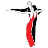 Stock illustration. Couple dancing tango Royalty Free Stock Photos