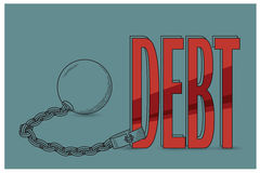 Stock illustration. Flat infographic. Bankruptcy and debt.  Royalty Free Stock Photos
