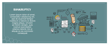 Stock illustration. Flat infographic. Bankruptcy and debt Royalty Free Stock Images