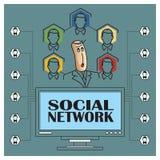 Stock illustration. Flat infographic. Social network Stock Photo