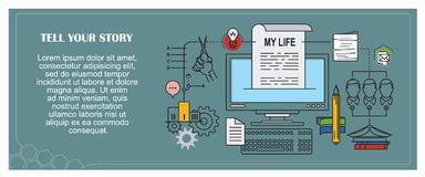 Stock illustration. Flat infographic. Tell your story Royalty Free Stock Photo