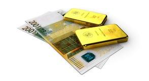 Stock Illustration of Money Gold, on white background. 3d Stock Illustration of Money Gold, on white background Royalty Free Stock Images