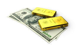 Stock Illustration of Money Gold, on white background Royalty Free Stock Photos