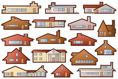Stock illustration. A set of nice houses for design the project Stock Photography