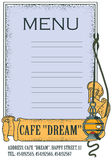 Stock illustration. Template cafe or restaurant menu. Royalty Free Stock Image