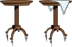 Stock illustration. Two Decorative table Stock Images