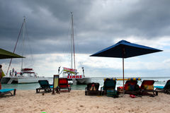 Stock image of beaches at Negril, Jamaica.  Royalty Free Stock Images