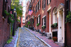 Stock Image of Beacon Hill, Boston, USA Royalty Free Stock Image