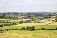 Stock Image - Beautiful Yorkshire Landscape. Picture of North Yorkshire Landscape with lush green fields leading out into the distance stock photo