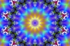 Stock Image of Binary Code Kaleidoscope. Stock illustration of binary code kaleidoscope with light and butterflies vector illustration