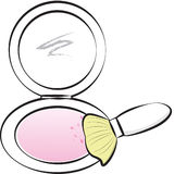 Stock Image: Blush-on Makeup Royalty Free Stock Photo