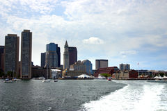 Stock image of Boston skyline, Inner Harbor, USA stock photo