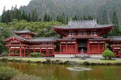 Stock image of Byodo-In Temple, O'aho, Hawaii Royalty Free Stock Photography