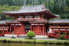 Stock image of Byodo-In Temple, O'aho, Hawaii Royalty Free Stock Photos