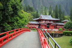 Stock image of Byodo-In Temple, O'aho, Hawaii Royalty Free Stock Images