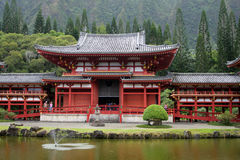 Stock image of Byodo-In Temple, O'aho, Hawaii Stock Photo