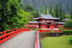 Stock image of Byodo-In Temple, O'aho, Hawaii Stock Images