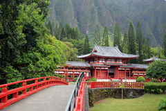 Stock image of Byodo-In Temple, O'aho, Hawaii Royalty Free Stock Image