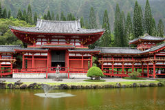 Stock image of Byodo-In Temple, O'aho, Hawaii Stock Image