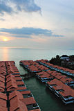 Stock image of Chalet above sea at Port Dickson, Malaysia Royalty Free Stock Photography